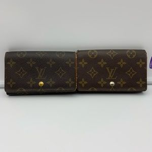 💯(2) Bundle Auth Louis Vuitton Vtg Short Wallet